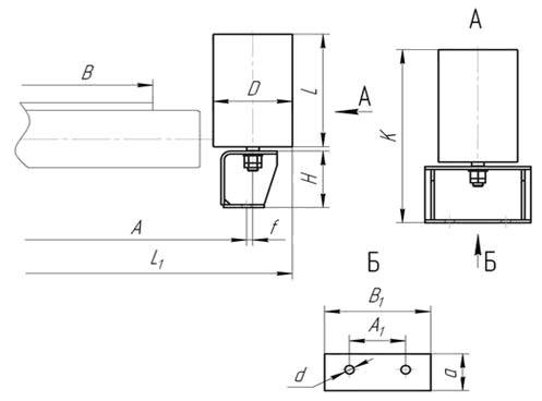 схема дефлекторной верхней прямой ролькооопоры