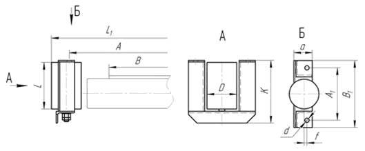 схема дефлекторной нижней прямой роликоопоры