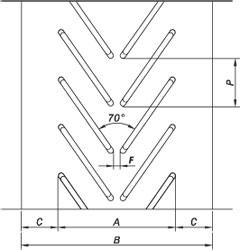 схема открытого профиля ленты типа R