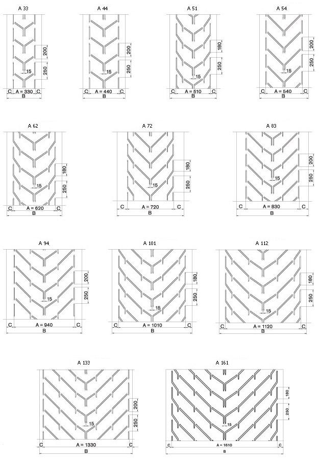 cхемы ленты профиль A
